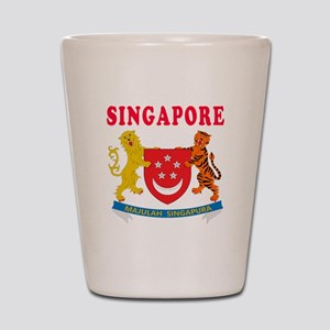 Singapore Coat Of Arms Designs Shot Glass