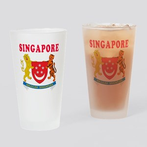 Singapore Coat Of Arms Designs Drinking Glass