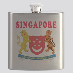Singapore Coat Of Arms Designs Flask