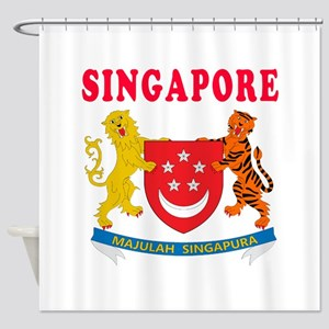 Singapore Coat Of Arms Designs Shower Curtain