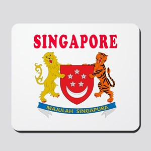 Singapore Coat Of Arms Designs Mousepad