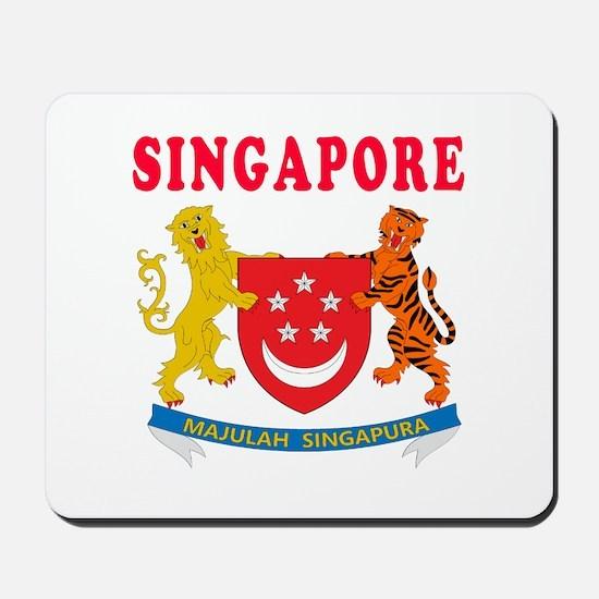 Singapore Coat Of Arms Designs Mousepad