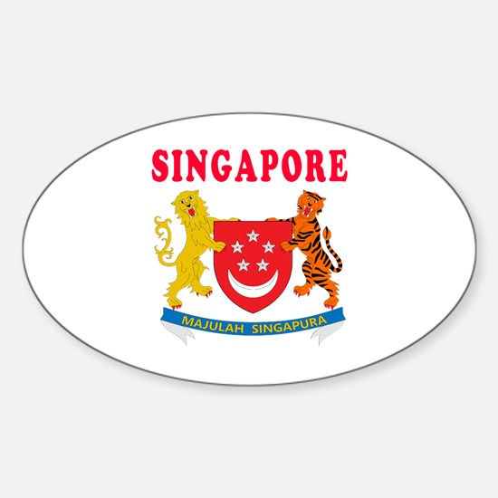 Singapore Coat Of Arms Designs Sticker (Oval)