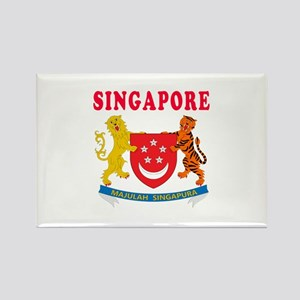 Singapore Coat Of Arms Designs Rectangle Magnet