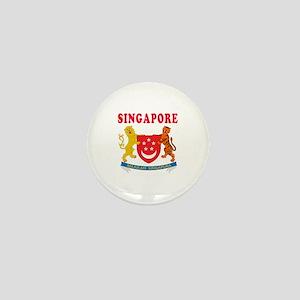 Singapore Coat Of Arms Designs Mini Button