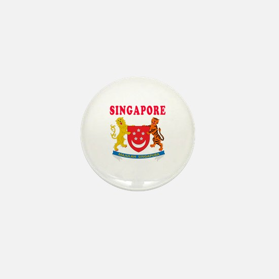 Singapore Coat Of Arms Designs Mini Button