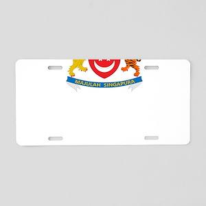 Singapore Coat Of Arms Designs Aluminum License Pl