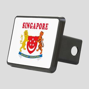 Singapore Coat Of Arms Designs Rectangular Hitch C