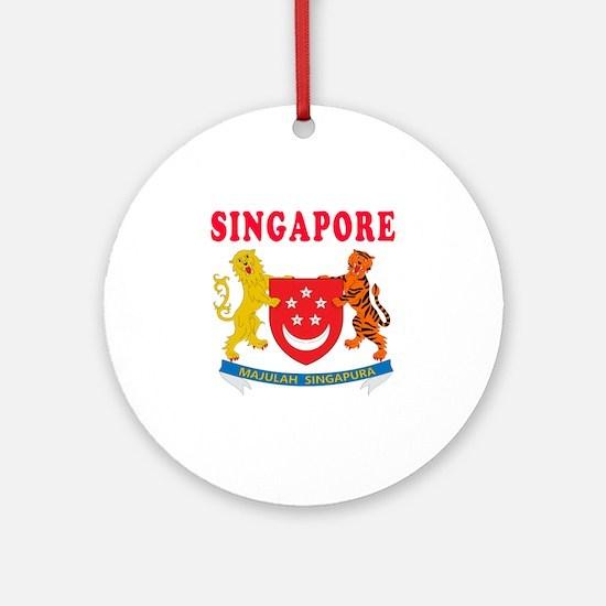 Singapore Coat Of Arms Designs Ornament (Round)