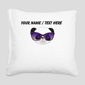 Custom Panda With Sunglasses Square Canvas Pillow