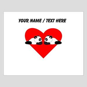 Custom Cute Pandas Heart Posters