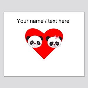 Custom Panda Boy And Girl Heart Posters