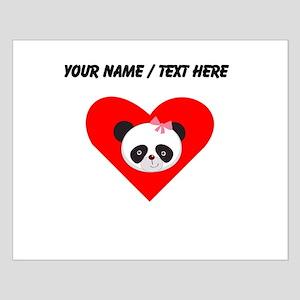 Custom Girl Panda Face Heart Posters
