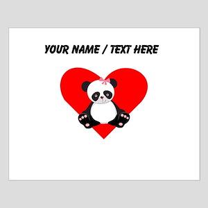 Custom Girl Panda Heart Posters