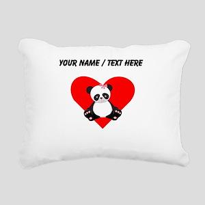 Custom Girl Panda Heart Rectangular Canvas Pillow
