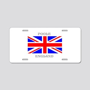 Poole England Aluminum License Plate