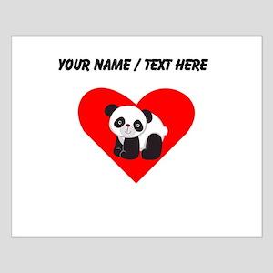 Custom Cute Panda Heart Posters