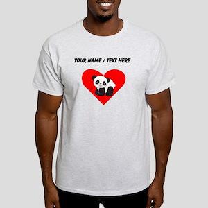 Custom Cute Panda Heart T-Shirt