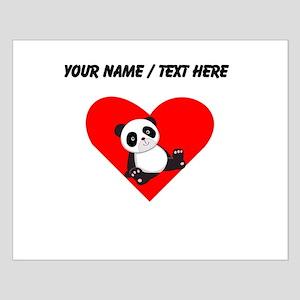 Custom Panda Sitting Down Heart Posters
