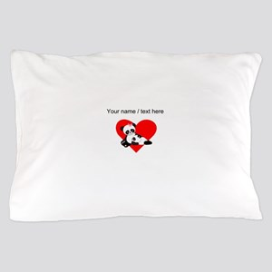 Custom Panda Baby And Mother Heart Pillow Case