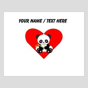 Custom Panda With Bamboo Heart Posters