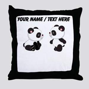 Custom Baby Pandas Throw Pillow