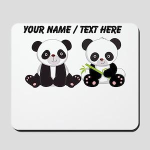 Custom Cute Pandas Mousepad