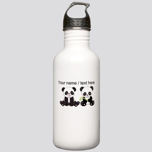 Custom Cute Pandas Water Bottle