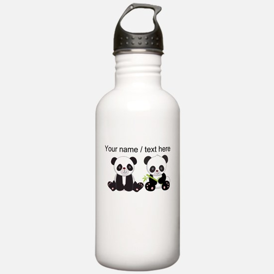 Custom Cute Pandas Water Bottle