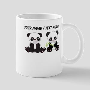 Custom Cute Pandas Mug