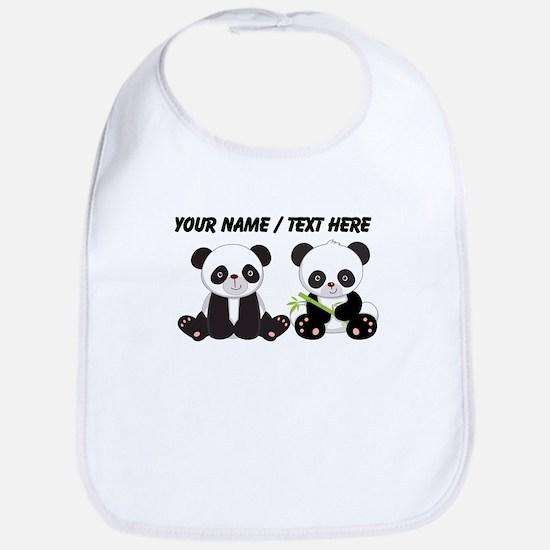 Custom Cute Pandas Bib