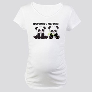 Custom Cute Pandas Maternity T-Shirt