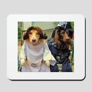 Princess Leia and Darth Vader Doggies Mousepad