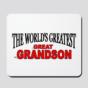"""""""The World's Greatest Great Grandson"""" Mousepad"""