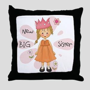 Blond Princess Big Sister Throw Pillow