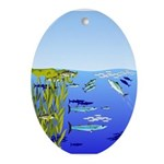 Kelp Edge Action ps Ornament (Oval)