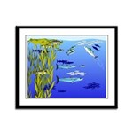 Kelp Edge Action ps Framed Panel Print