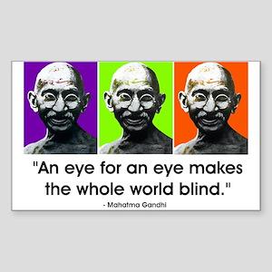 An eye for an eye... Rectangle Sticker