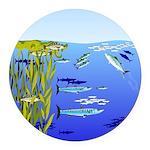 Kelp Edge Action ps Round Car Magnet