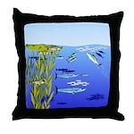 Kelp Edge Action ps Throw Pillow