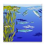 Kelp Edge Action ps Tile Coaster