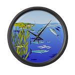Kelp Edge Action ps Large Wall Clock