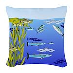 Kelp Edge Action ps Woven Throw Pillow