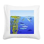 Kelp Edge Action ps Square Canvas Pillow
