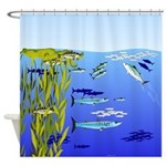 Kelp Edge Action ps Shower Curtain