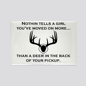 Deer in the Back of your Pickup Rectangle Magnet
