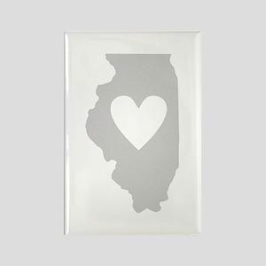 Heart Illinois Rectangle Magnet