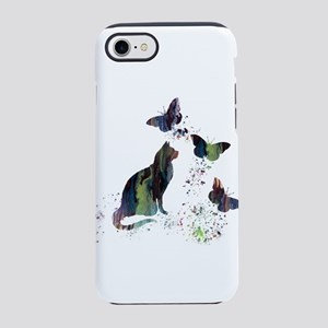 Cat and butterflies iPhone 7 Tough Case