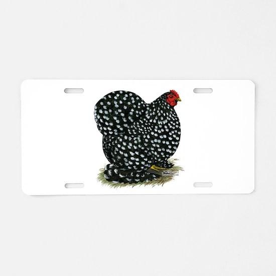 Cochin Black Mottled Hen Aluminum License Plate