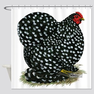 Cochin Black Mottled Hen Shower Curtain
